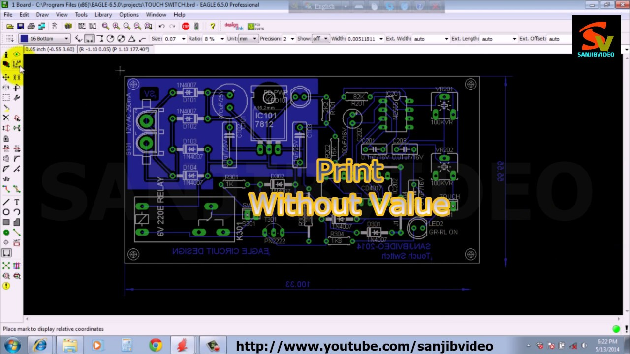EAGLE # 12 of 12 : PCB LAYOUT ( Printing ) : How to Design Circuit ...