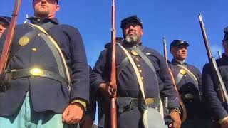 155 Gettysburg re-enactment 3rd Maine ( 2nd federal rifles)part 3 of 3