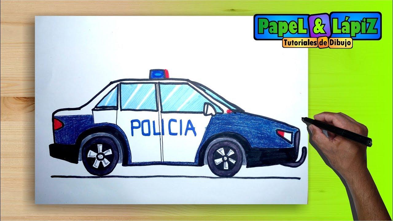 Cómo dibujar y pintar un carro de policía - YouTube