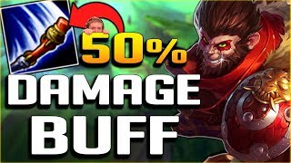 WTF RIOT?? 50% DAMAGE BUFF ON WUKONG?!? NEW WUKONG JUNGLE GAMEPLAY - League of Legends PBE