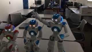 Self Consciousness with NAO Bots
