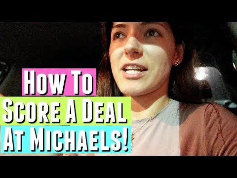 HOW TO GET A GOOD DEAL AT MICHAELS CRAFT STORE, How To SHOP At Michaels Art And Craft Store