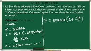 INTERÉS COMPESTO CÁLCULO DEL VALOR FUTURO   EJERCICIO 4