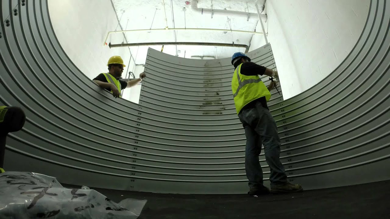 3,000 Gallon Water Tank Shell Assembly Time Lapse - Houston