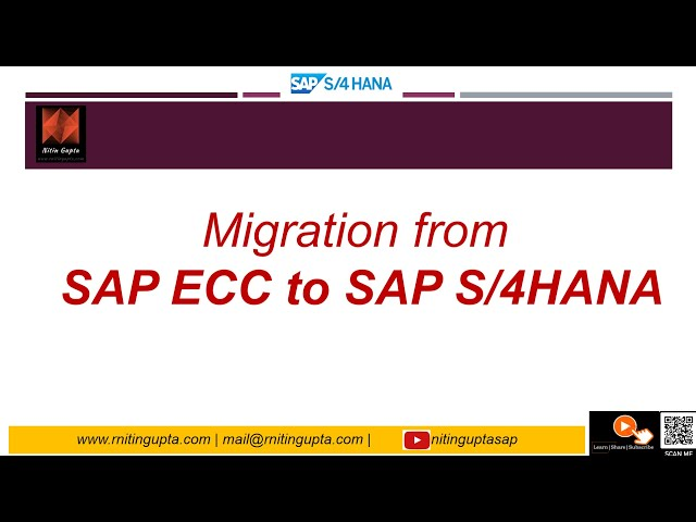 SAP ECC to SAP S4HANA Migration Overview