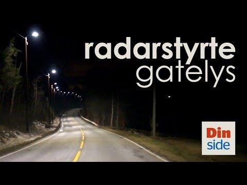Radarstyrte gatelys i Buskerud
