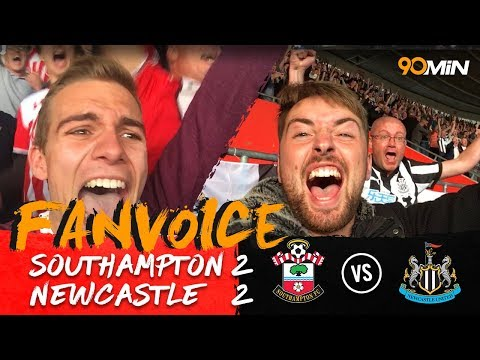 Southampton struggle as Gabbiadini secures a point! | Southampton 2-2 Newcastle | 90min FanVoice