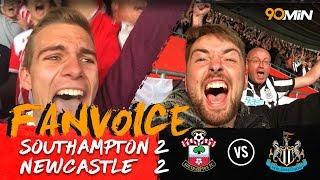 Southampton struggle as gabbiadini secures a point!   southampton 2-2 newcastle   90min fanvoice