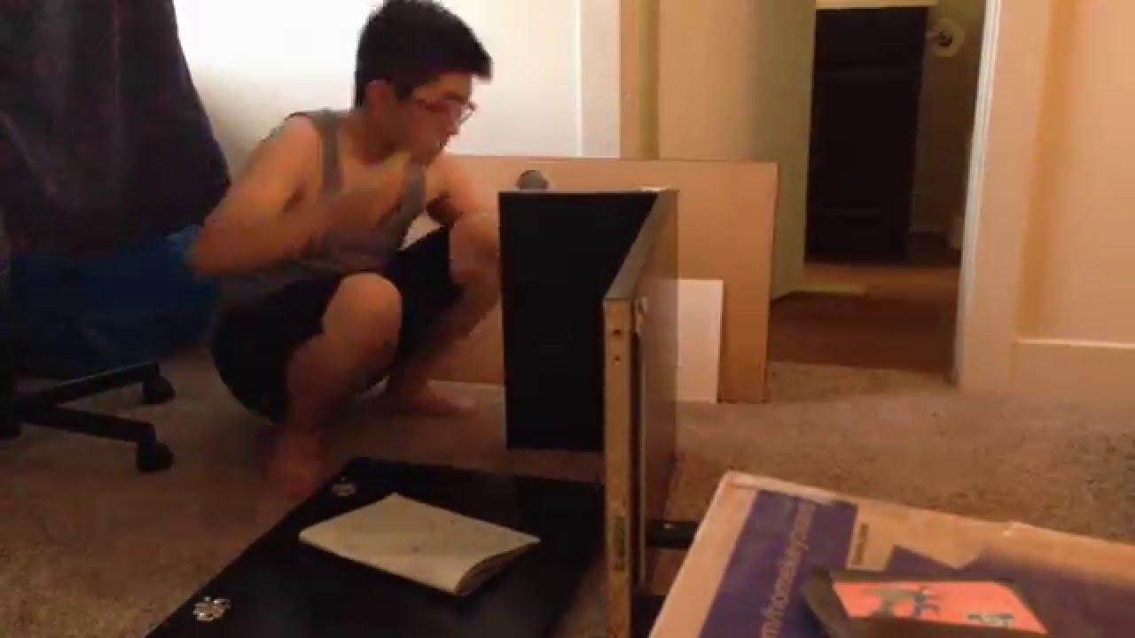 Ikea micke desk assemble timelapse youtube