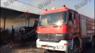 Φωτιά σε αποθήκη ξυλείας στο Κορωπί