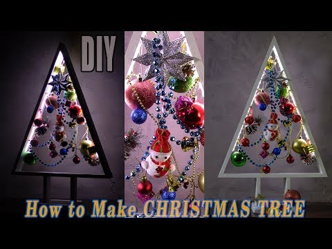 DIY CHRISTMAS TREES   HOW TO MAKE A WOODEN CHRISTMAS TREE $13   Xmas Tree DIY Tutorial