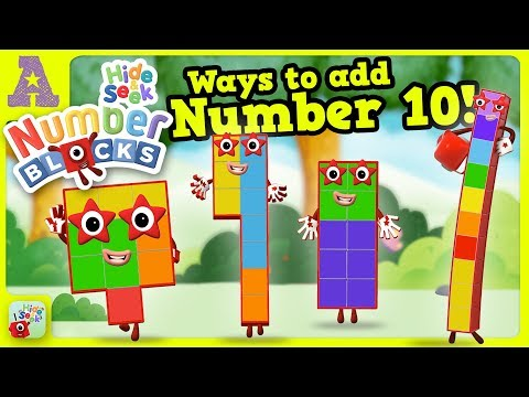 Many Ways To Add To 10 With The Numberblocks Hide & Seek