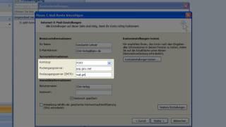 Outlook 2007 - E-Mail Konto einrichten
