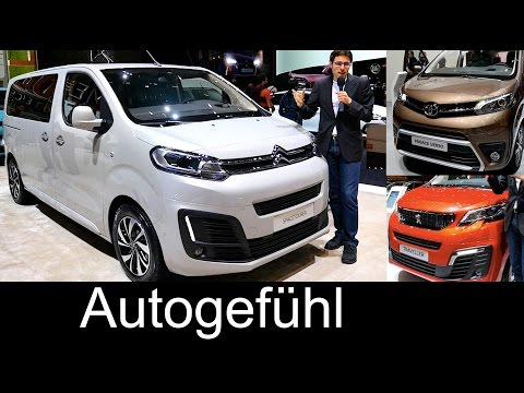 Citroen SpaceTourer (Hyphen) vs Peugeot Traveller vs Toyota Proace Verso REVIEW comparison premiere