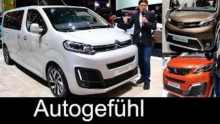 Citroen SpaceTourer (Hyphen) vs Peugeot Traveller vs Toyota Proace Verso REVIEW comparison premiere
