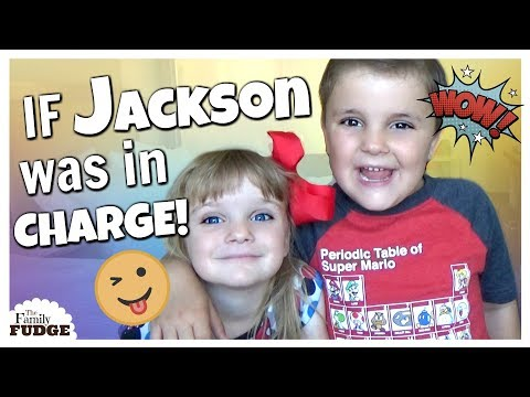 Can't say NO to Jackson!    IF KIDS WERE IN CHARGE