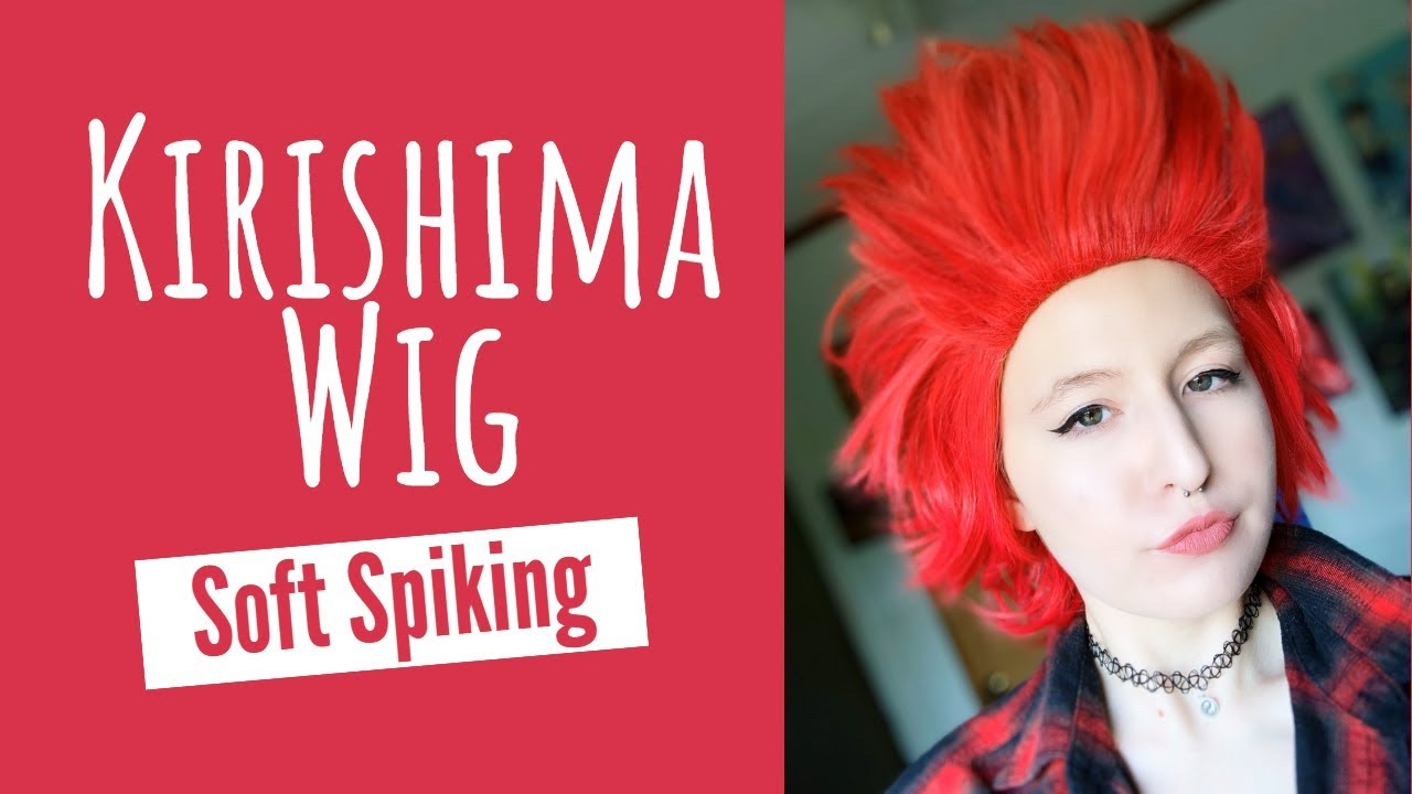 How To Style A Fluffy Spiked Wig Kirishima Cosplay Youtube