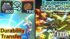 BotW Glitches & Tricks: Equipment Duplication, Durability Transfer, & more