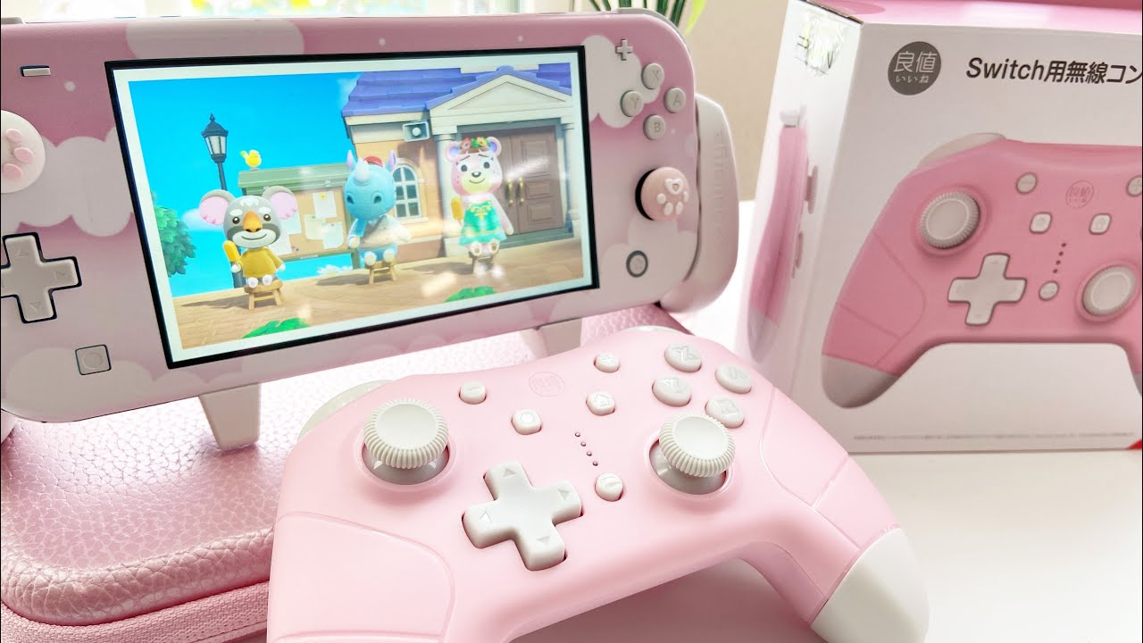 Unboxing Cute Pink And White Nintendo Switch Pro Controller And Review Reads Amiibo Youtube