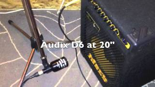 Bass Cab dynamic mic off: Shure SM58 vs Audix D6