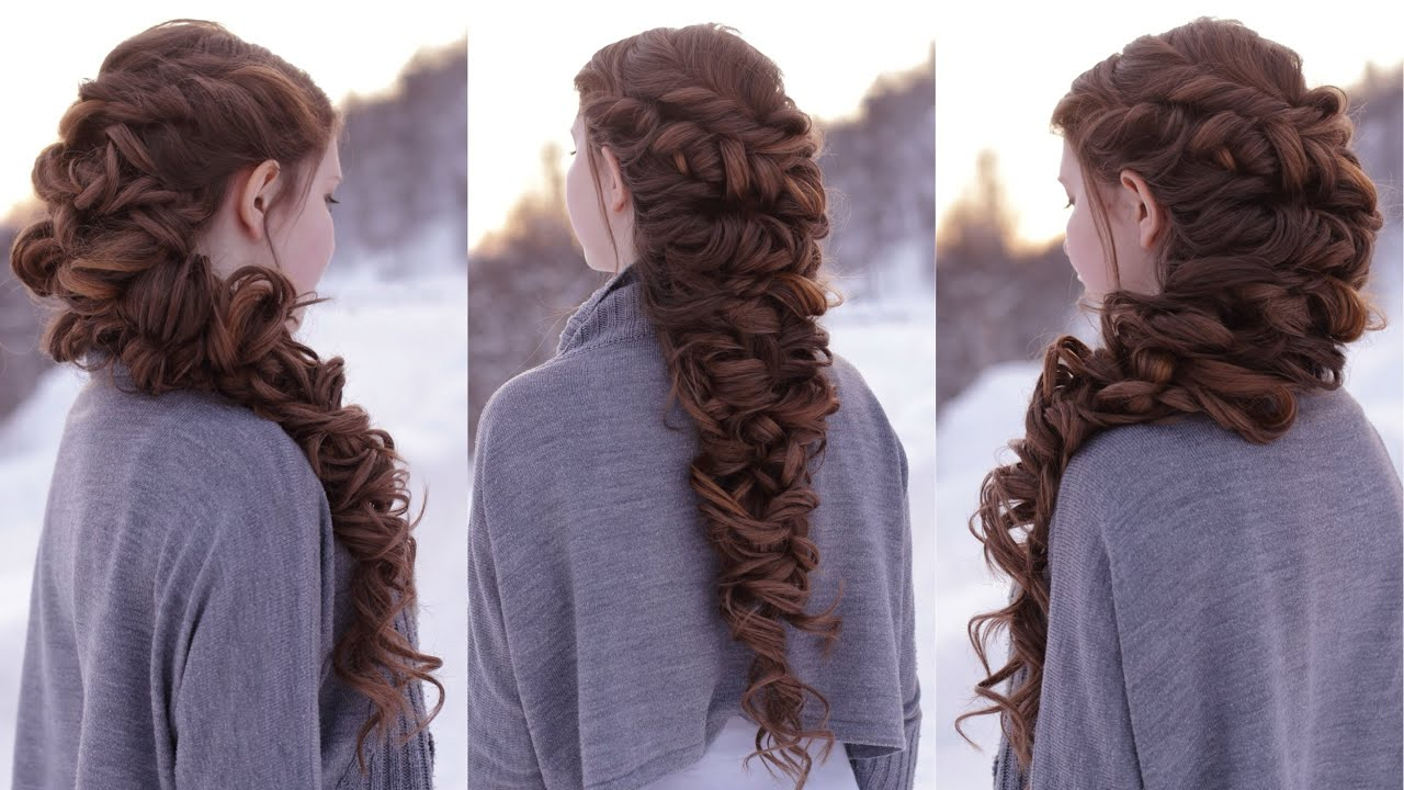 Hair Styles For Braids Pictures: Messy Romantic Braid