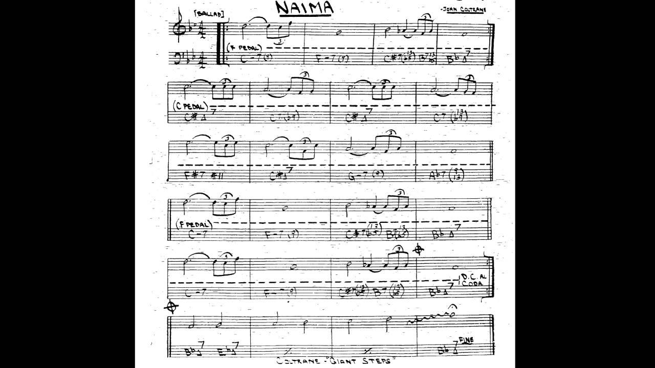 24 R Score Lutron Wiring Diagram Grafik Eye Naima Play Along - Backing Track (bb Key Trumpet/tenor Sax/clarinet) Youtube