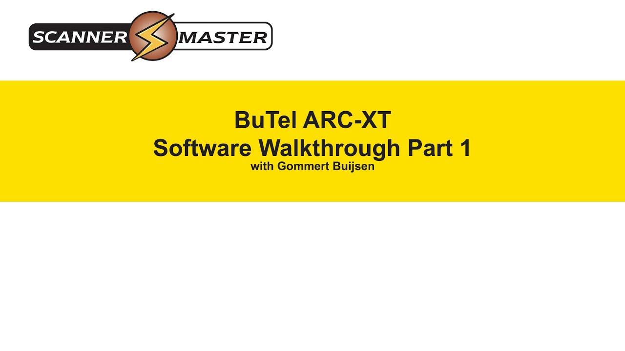 ARC-XT Scanner Radio Software Walkthrough-Part 1