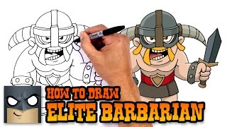 How to Draw Elite Barbarian | Clash Royale