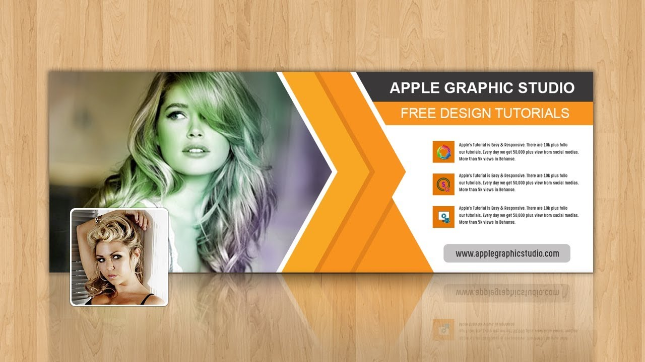 How To Make Facebook Cover Photo Design Photoshop Tutorial Youtube