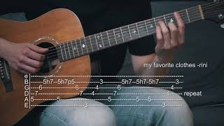 Cover images How To Play My Favorite Clothes - RINI - Guitar Tabs