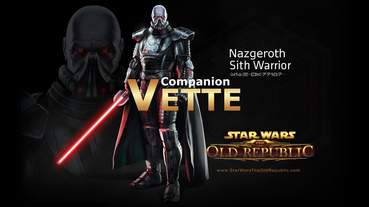 Swtor Sith Warrior Vette Romance Conversations