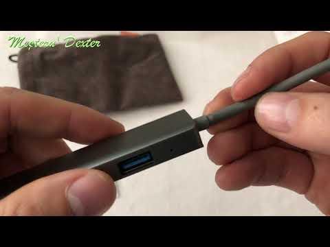 Adaptor USB-C hub cu 3 USB 3.0, card SD, microSD si iesire HDMI