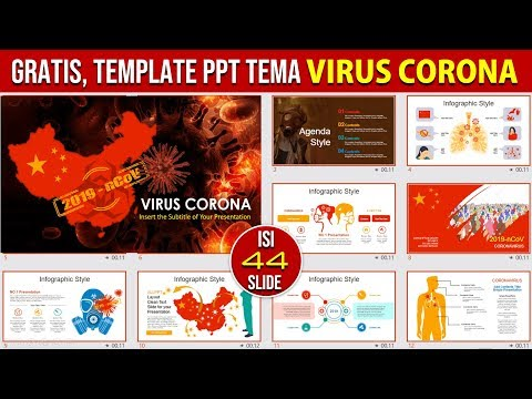 Template PPT Gratis Tema Tentang Virus Corona