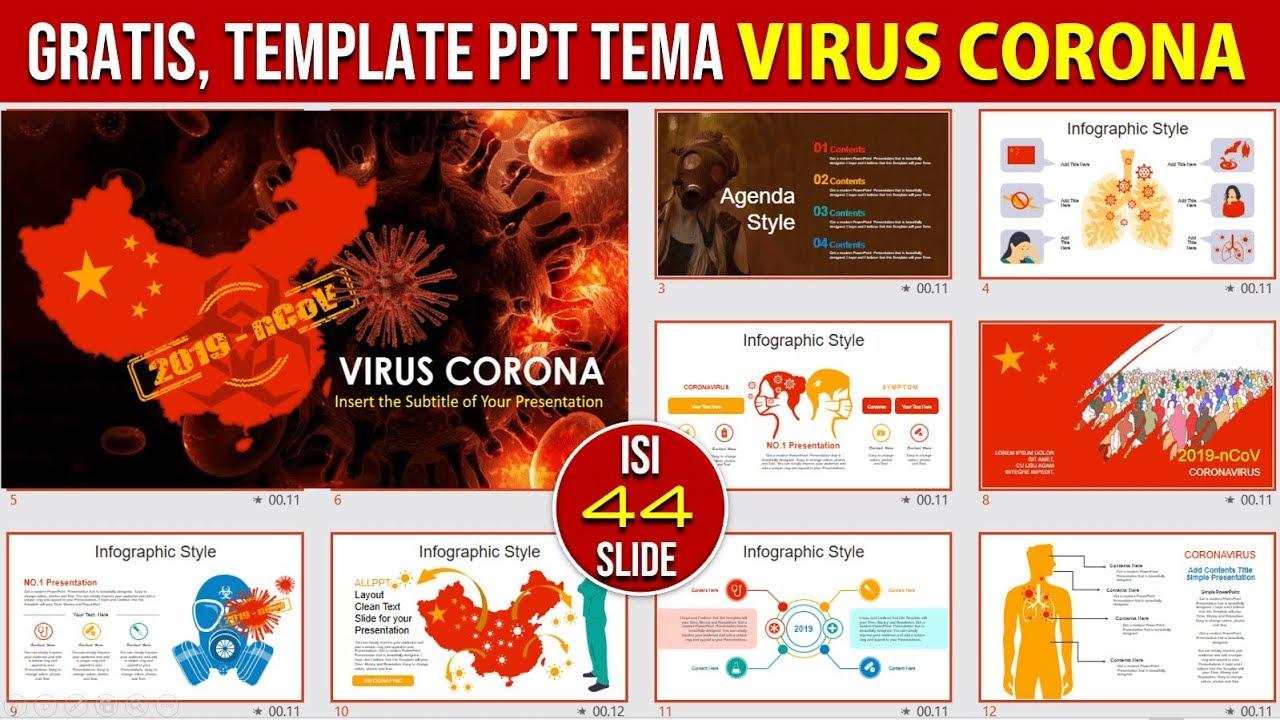 Template Ppt Gratis Tema Tentang Virus Corona Youtube