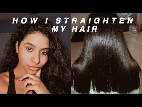 SLEEK STRAIGHT HAIR ROUTINE + my tips & tricks