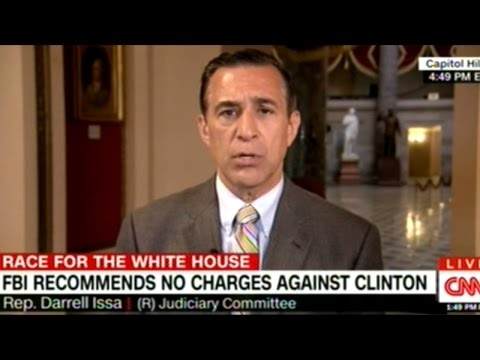 Congressman Issa Says FBI Director Comey Is Lying About Hillary Clinton's Criminal Intent!