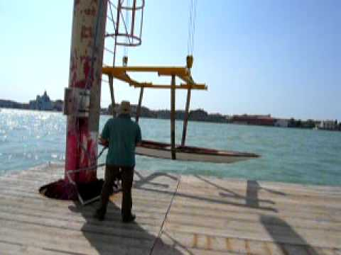 Construction of small ship, Venice Italia