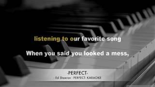 Ed Sheeran - Perfect - Karaoke lyrics  HQ