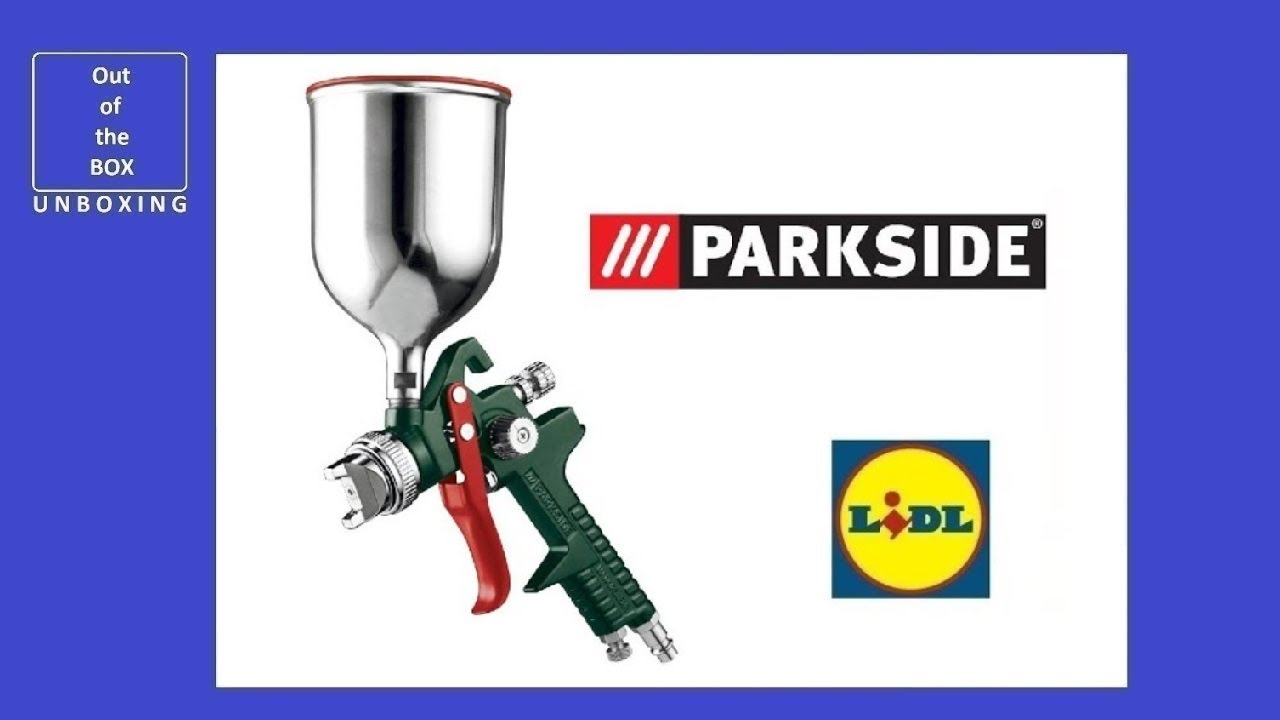 Parkside pneumatic paint spray gun pdfp 500 c3 unboxing - Pistolet peinture lidl ...