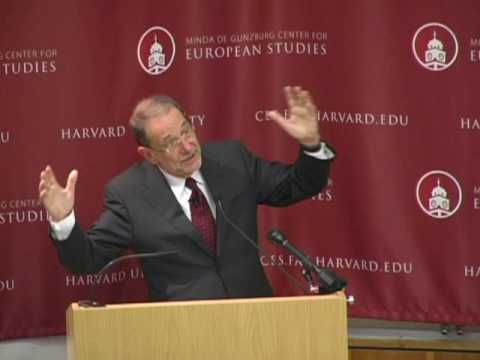 """Europe in the World"" - Javier Solana speaks at Harvard"