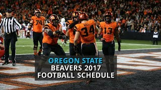 Oregon State Beavers 2017 football schedule
