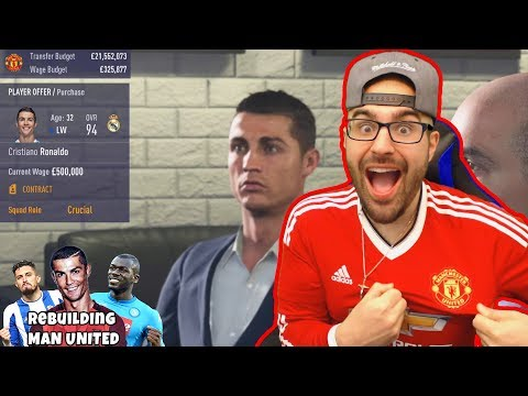 WOW RONALDO SIGNS FOR UNITED! Rebuilding Manchester United FIFA 18
