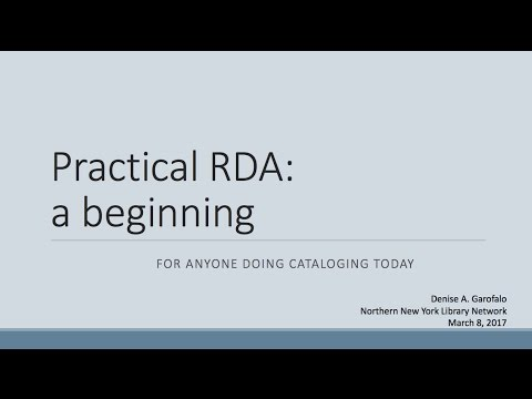 Practical RDA:  an introduction