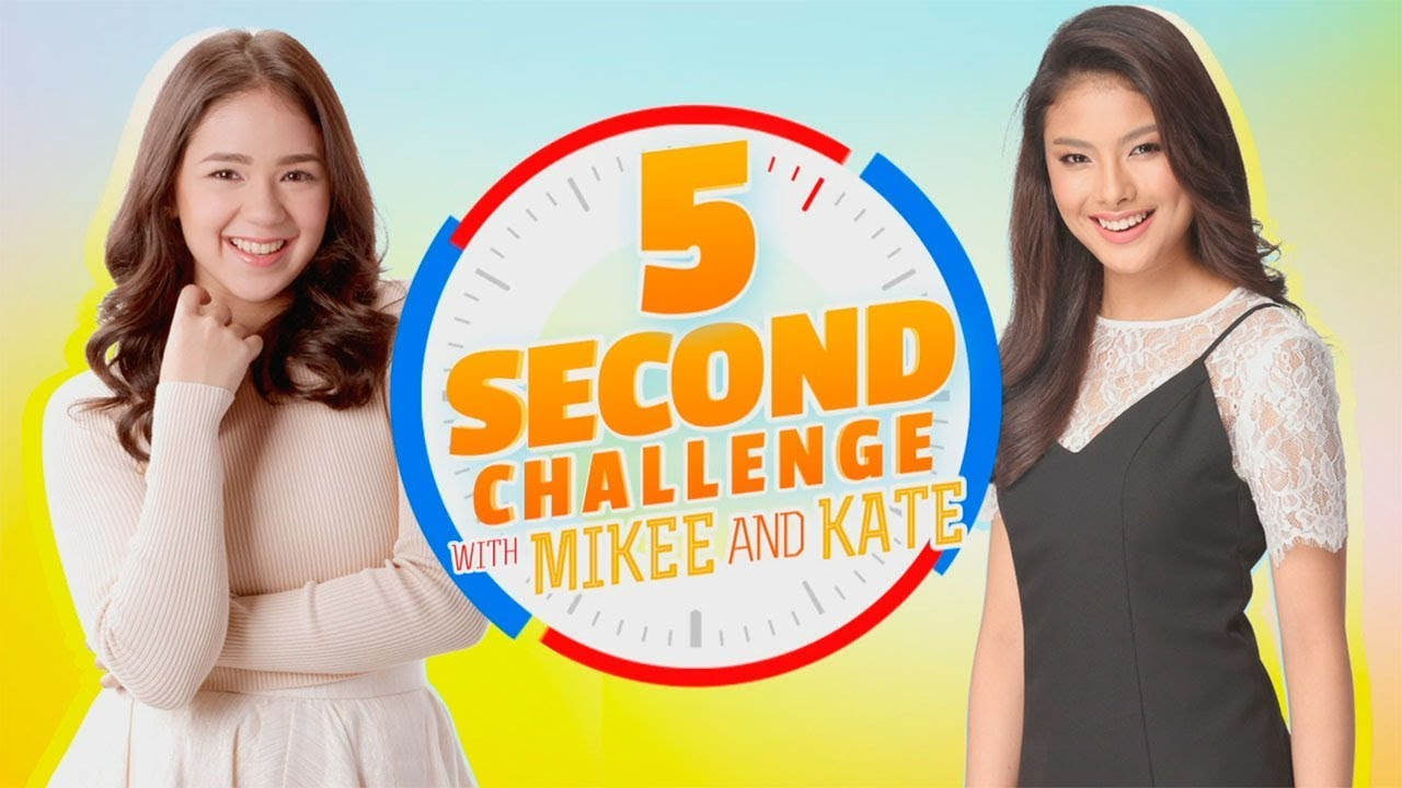 5 Second Challenge with Mikee Quintos and Kate Valdez