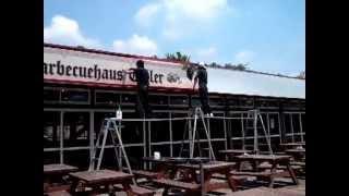 既存看板 印刷シート貼り リニューアル 群馬県前橋市 クローネンベルク ...