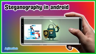 How to hide secret data or messages inside a picture using steganography in android