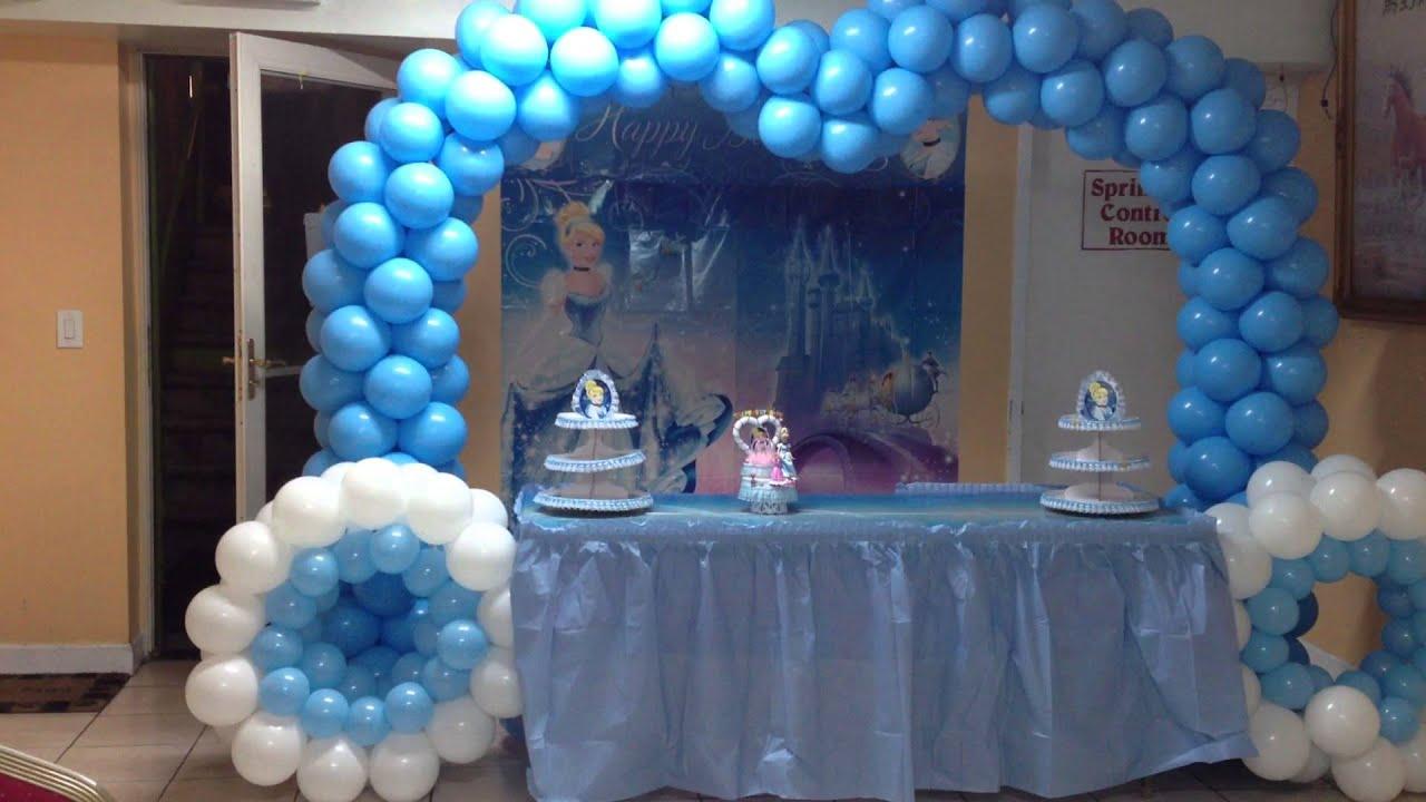 Decoracion con globos de cenicienta youtube - Decoracion con globos para cumpleanos ...