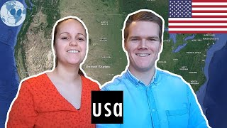 Zooming in on USA | Geography of USA with Google Earth