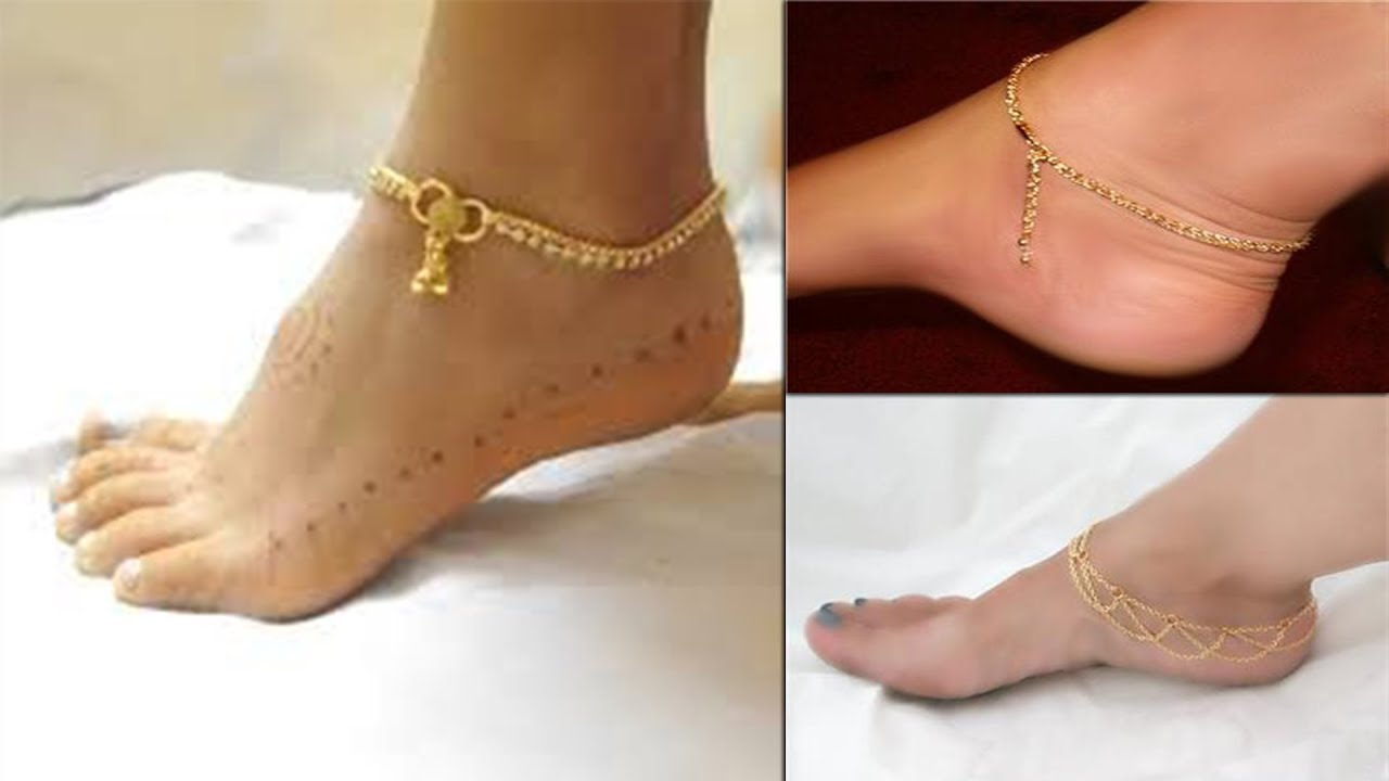 beautiful collection of stylish anklets for ladies || anklets for