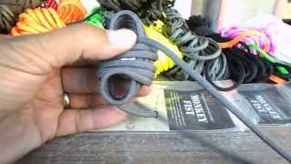 How to make a monkey fist with a 3oz weight and 9 feet of grey paracord.